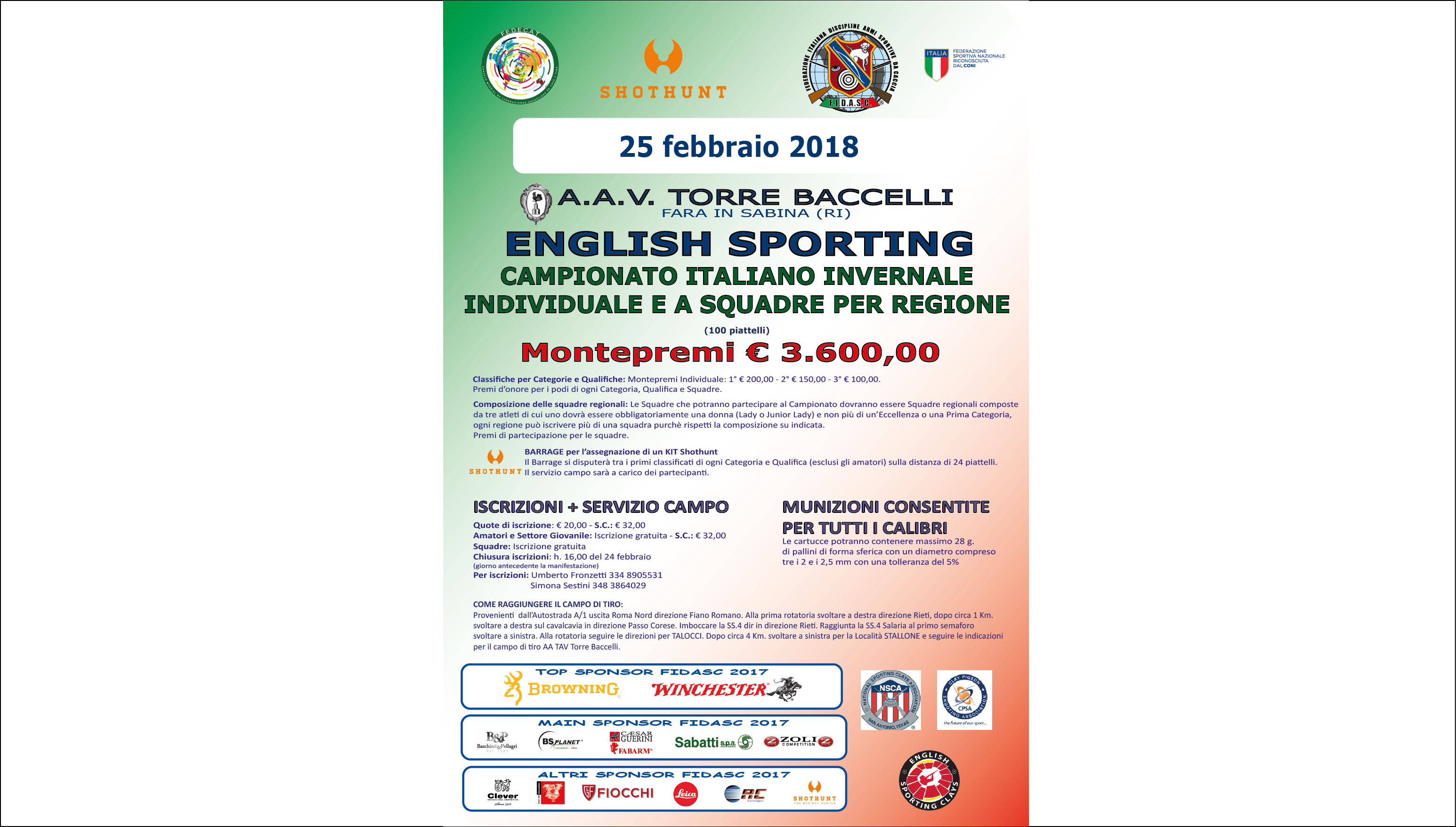 English Sporting - Campionato Italiano Invernale