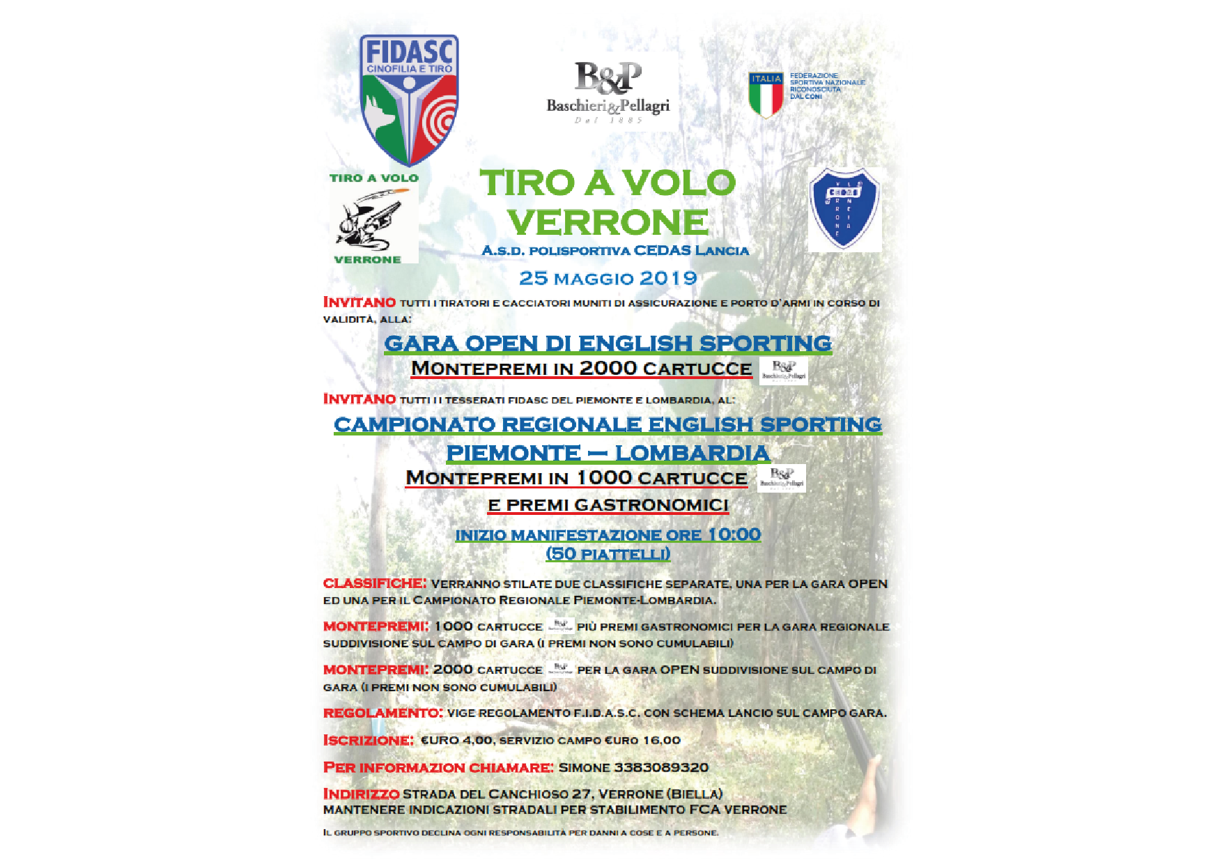 ENGLISH SPORTING - Gara OPEN + Campionato Regionale